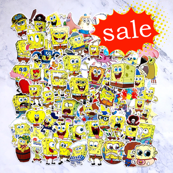 100pcs pack do not repeat notebook bike luggage box aj shoes tide brand jordan graffiti jordan waterproof stickers 100Pcs/Pack SpongeBob Stickers Cartoon Graffiti Pegatinas For Motorcycle Notebook Laptop Luggage Bicycle Skateboard