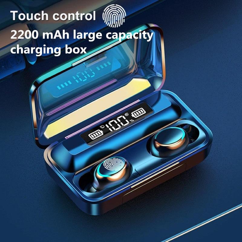 TWS Bluetooth Earphones Headsets Touch-Control Fone 9d Stereo Waterproof Sports Wireless Earbuds