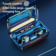 TWS Bluetooth Kopfhörer Touch Control Drahtlose Kopfhörer mit Mic Sport Wasserdichte Drahtlose Ohrhörer 9D Stereo Headsets Fone