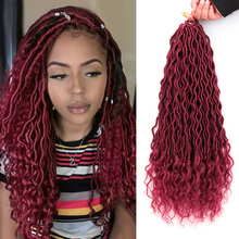 MODERN QUEEN Ombre Faux Locs Crochet Braid Hair Bohemian Fau