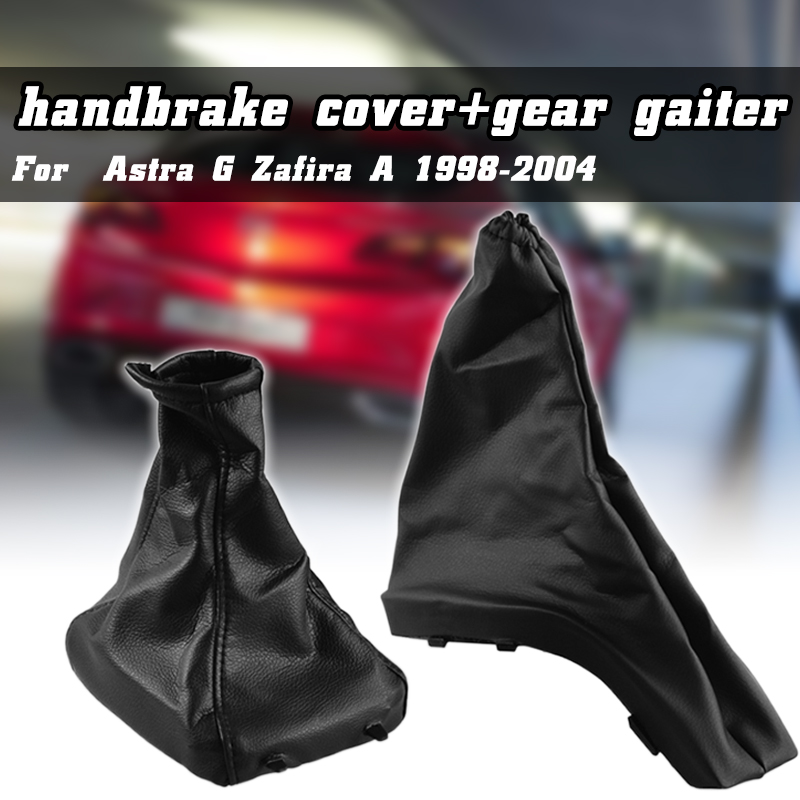 Car Gear Shift Knob Gaiter Boot Cover PU Leather Parking Handbrake Grips Covers For Opel Astra G Zafira A 1998 2004|Gear Shift Collars| |  - title=
