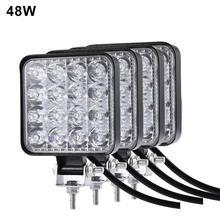48 Вт 42 Вт 27 Вт 72 Вт круглый квадратный светодиодный головной светильник s противотуманный светильник s рабочий светильник Точечный светильник пыленепроницаемый для Jeep SUV/Truck/ATV/транспортных средств/морских