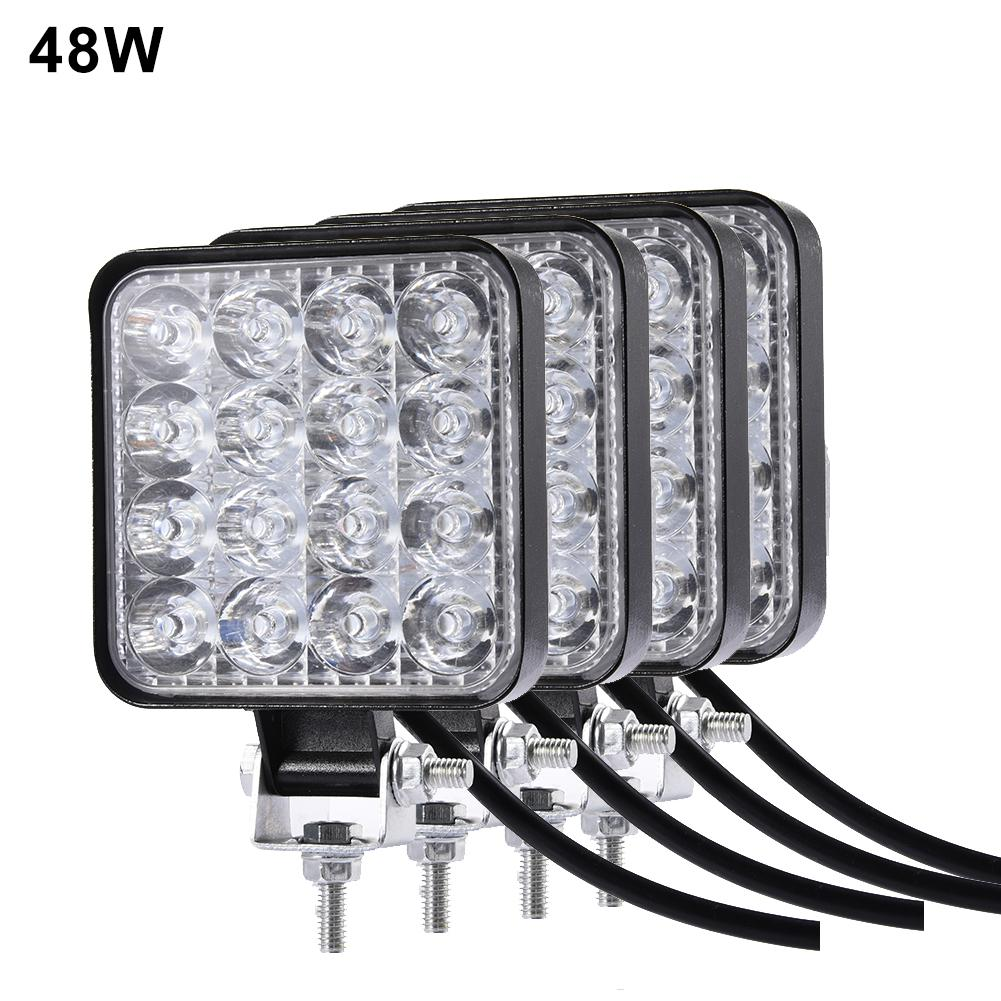 27W 48W Led Headlights Fog Lights Work Light Waterproof And Dust-proof Work Lamp For Bicycle Truck For SUV UTV ATV