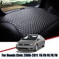 Кожаный коврик для багажника автомобиля Honda Civic 2006-2011, коврик для багажника, коврик для багажника Civic, подкладка для груза, скользящая задняя ...