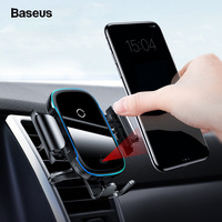 Baseus Car Phone Holder Charger For iPhone 11 Pro Max Samsung Fast Wireless Charging Intelligent 15W Qi Wireless Car Charger