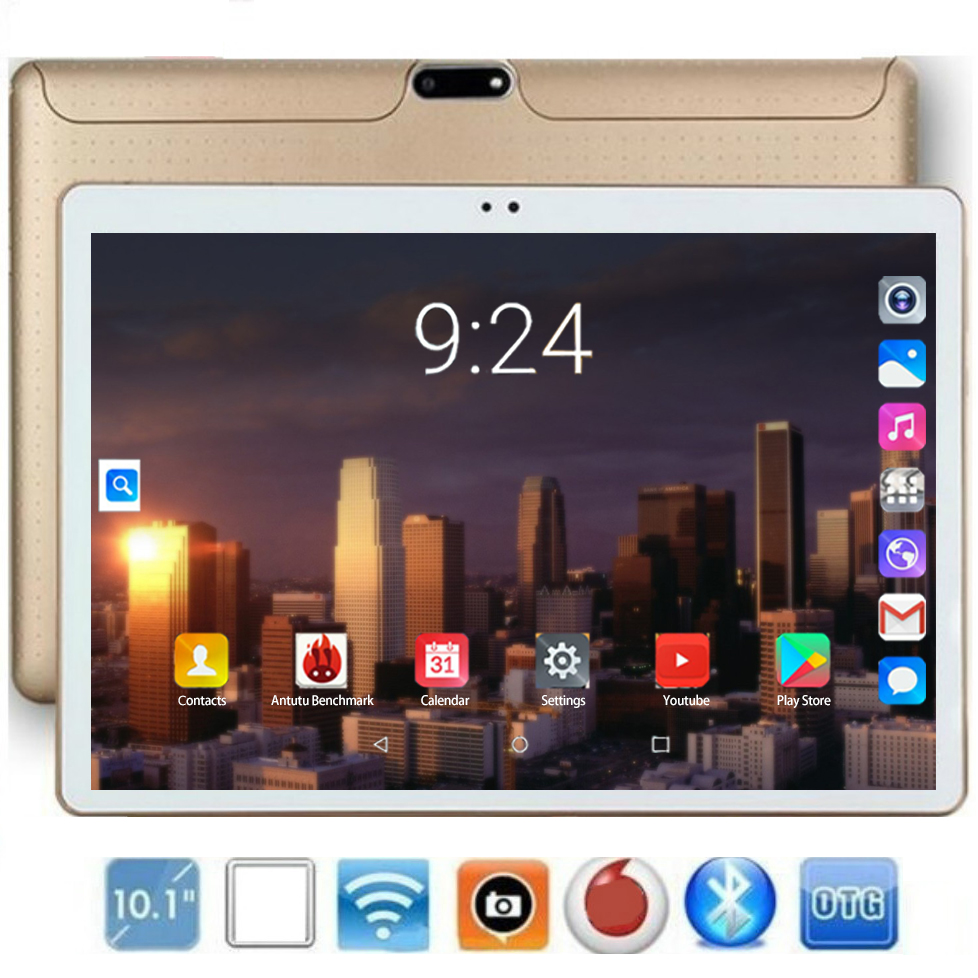 2020 New 10.1 Inch 4G LTE Tablet Pc Octa Core 1920*1200 HD IPS 6GB+128GB Wifi Bluetooth GPS Android 8.0 Tablets Kids Gifts