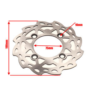 XLJOY 190mm Brake Caliper Disc Rotor for Pit Dirt Motor Trail Bike Motocorss Motorcycle