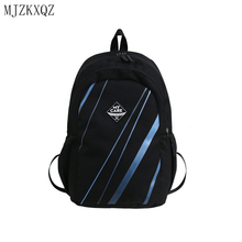 MJZKXQZ Women Backpack For School Teenagers Girls Black Nylon Rucksack Men Large Capacity