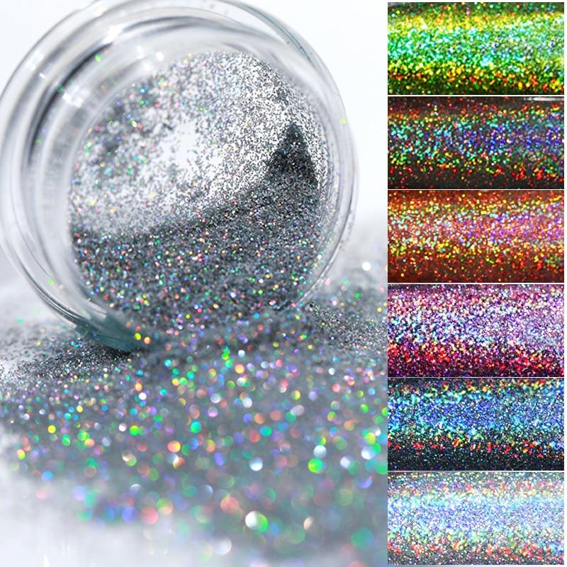 Gradient Shiny Nail Glitter Set Powder Laser Sparkly Manicur Nail Art Chrome Pigment Silver DIY Nail Art Decoration Kit