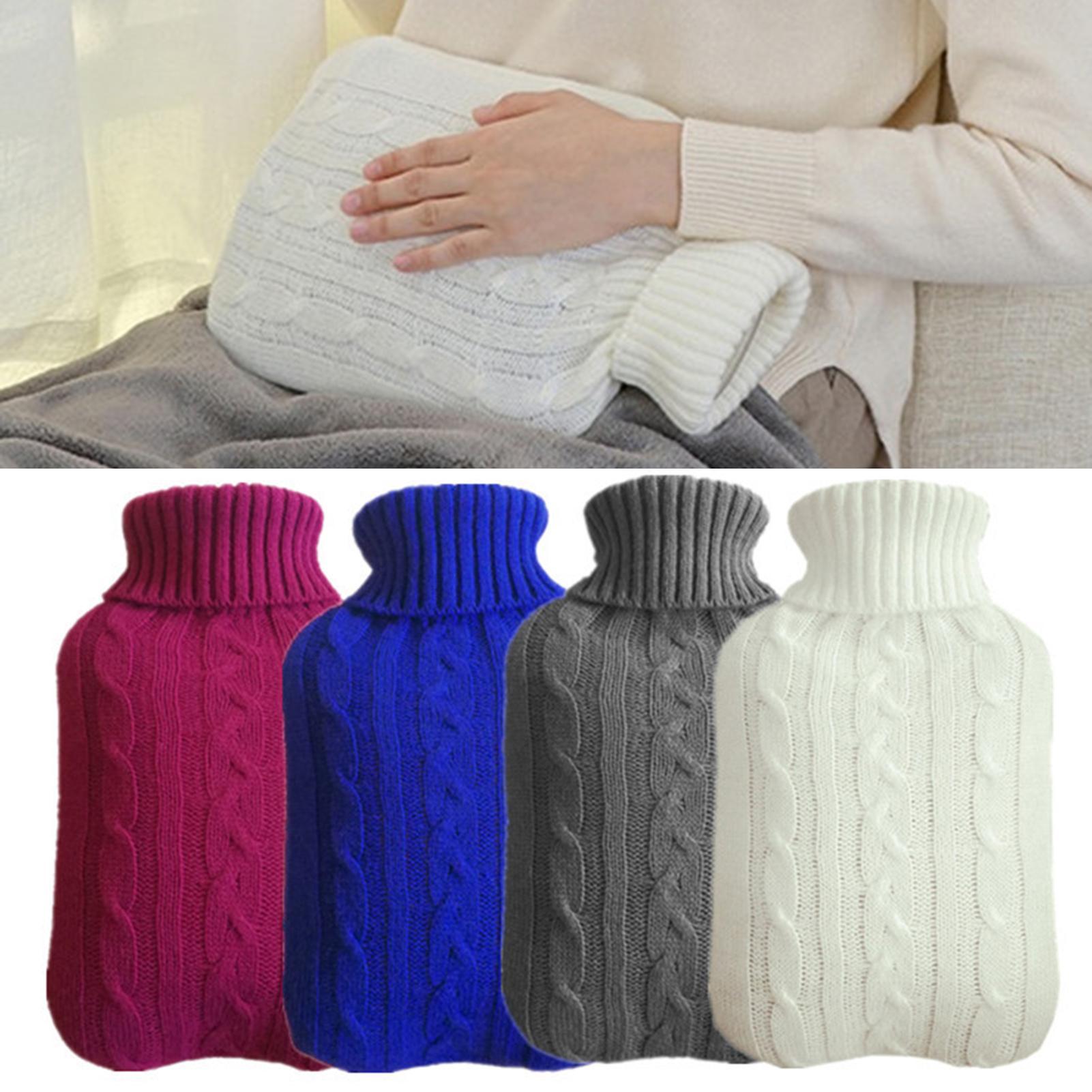 2000 мл акриловое волокно, бутылка для горячей воды, трикотажное покрытие, сплошной цвет, заполненный водой, сумка, тканевый чехол, теплый чехо...