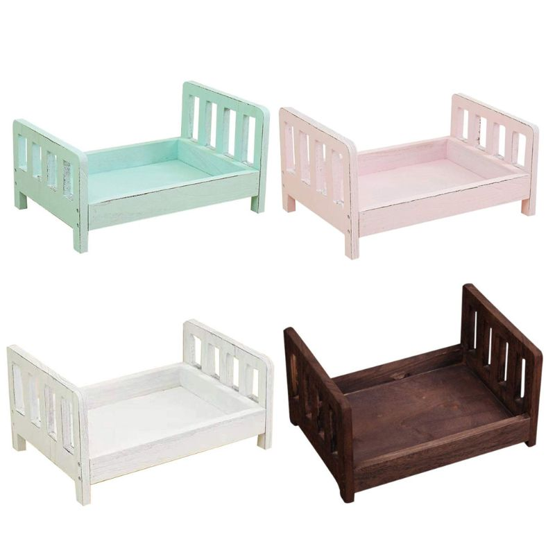Newborn Photography Props Wood Bed Infant Poses Detachable Background Props 72XC