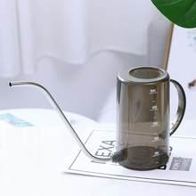 Arroseur de fleurs Transparent à longue bouche, Pot en acier inoxydable de 1000ml, outil créatif pour la fertilisation et le jardinage