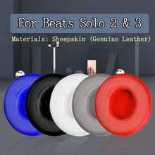 Cushion Replacement Beats Solo Bluetooth Headphone-Accessories Earbuds Earpads Genuine-Leather