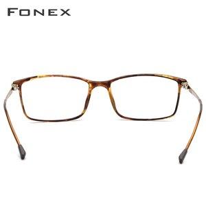 Image 4 - FONEX TR90 montatura per occhiali da uomo in lega miopia occhiali da vista montature per occhiali da vista 2019 coreano occhiali da vista senza viti 9855