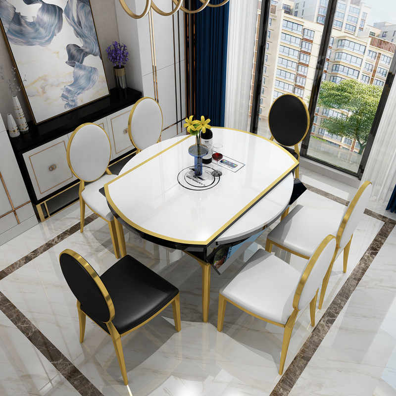 2019 Light Luxury Round Dining Table
