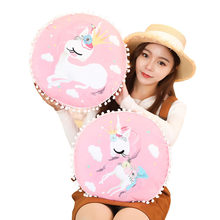 2019 Cross-Border Selling New Style Dreamy Unicorn Plush Pillow Sofa Cushion Napping Pillow Custom(China)