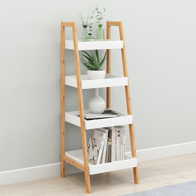 Floor Solid Wood Storage Rack For Bathroom Rack Ladder Shelves Plant Stand Modern Kitchen Storage Bathroom Shelf Organizer Storage Holders Racks Aliexpress