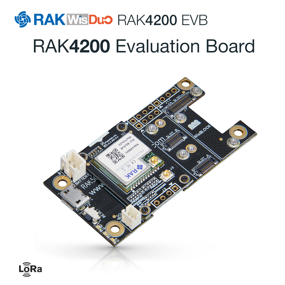 RAK4200 Evaluation Board With RAK4200 LoRa Module SX1276 Chip RAK5005 WisBase LoRaWAN 1.0.2 Protocols 862 To 1020MHz