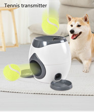 Dog Pet Toys Creative 2 In 1 Toy Automatic Ball Launcher Tennis Throw Device Section Emission