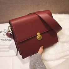 Vintage Female Square Crossbody Bag 2019 New High Quality PU Leather Womens Designer Handbag Lock Large Shoulder Messenger
