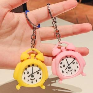 LXJERY Cute Cartoon alarm clock Keychain Lovely Key Chain For Women Bag Charm Pendant Key Ring Gifts Jewelry
