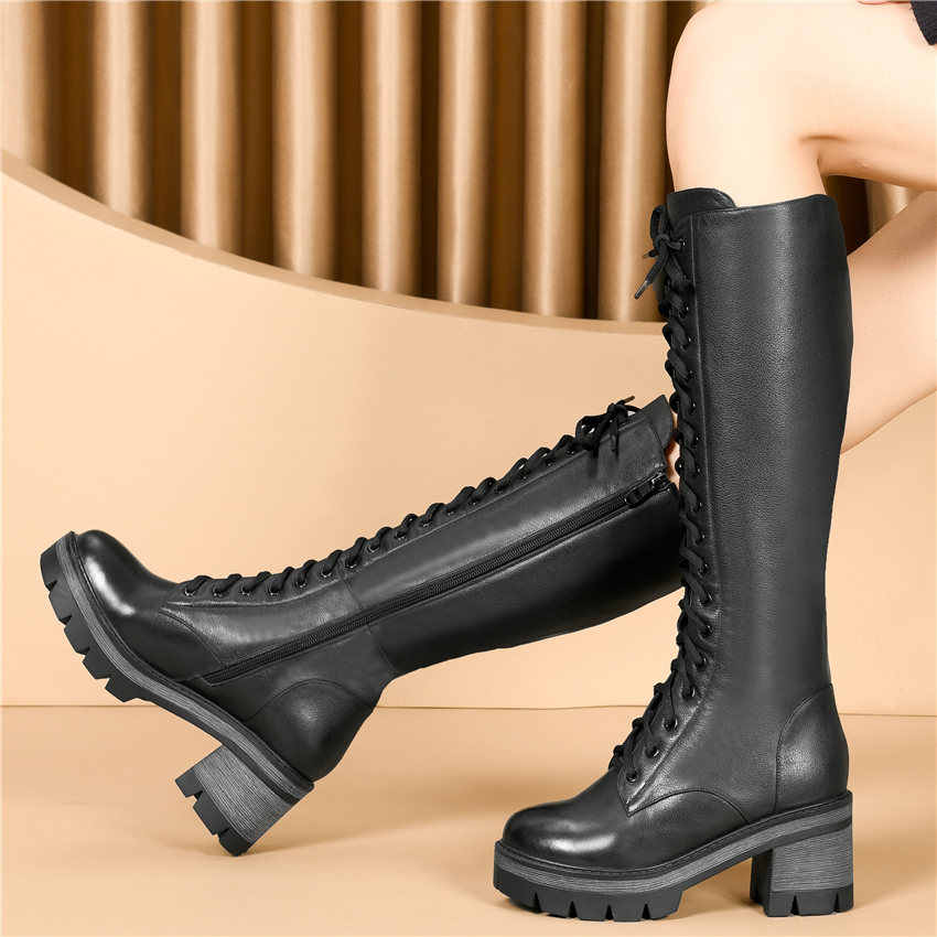 2020 Thigh High Creepers Women Lace Up