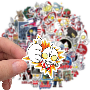 10/30/50/100PCS Cartoon Ultraman Anime Sticker For Motorcycle Luggage Water Cup Guitar Waterproof Sticker Kids Toy Gift image