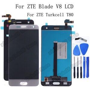 Image 1 - Original Für ZTE Klinge V8 LCD Display + Touch Screen Digitizer Montage ersatz Für ZTE Turkcell T80 BV0800 Display Reparatur kit