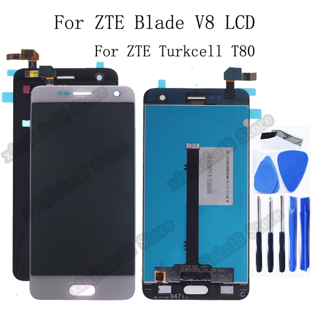 Original For ZTE Blade V8 LCD Display+Touch Screen Digitizer Assembly replacement For ZTE Turkcell T80 BV0800 Display Repair kit