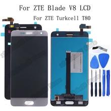Originele Voor ZTE Blade V8 Lcd scherm + Touch Screen Digitizer Vergadering vervanging Voor ZTE Turkcell T80 BV0800 Display Reparatie kit