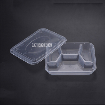 150PCS Disposable Meal Box Food Grade Transparent Plastic Lunch Box Environmentally Friendly Takeaway Packed Lunch Box 1000ML