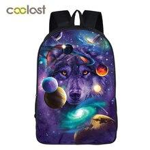 Galaxy Rugzak Voor Tienermeisjes Jongens Universe Space Kinderen Schooltassen Mochila Feminina Wolf Boek Tas Vrouwen Mannen Vrije Tijd Tas