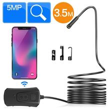 3.5M Cable Wireless Endoscope Camera, 2.0MP WiFi Borescope Inspection Camera Waterproof IP67 Flexible Snakes Cam 1080P HD PQ302