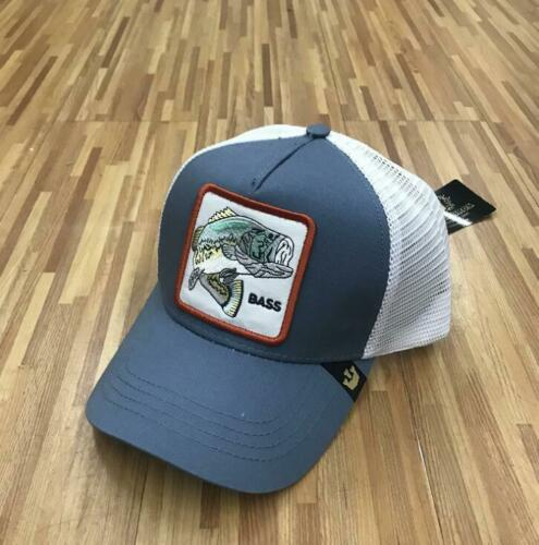 NEW High Quality Goorin TRUCKER Hat Snapback Cap ANIMAL FARM BASS-BLUE WHITE
