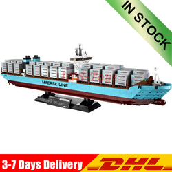 DHL w magazynie 22002 seria Technic Maerskly Cargo Container Ship Set 10241 Building DIY bloki cegły KID Toys
