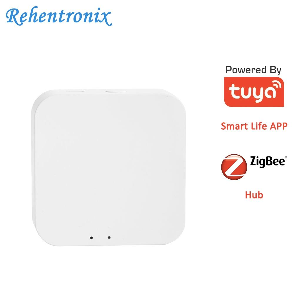 Mini Wireless WiFi Tuya Smart ZigBee Central Hub Smart Life Home Security System GateWay|Alarm Host| |  -