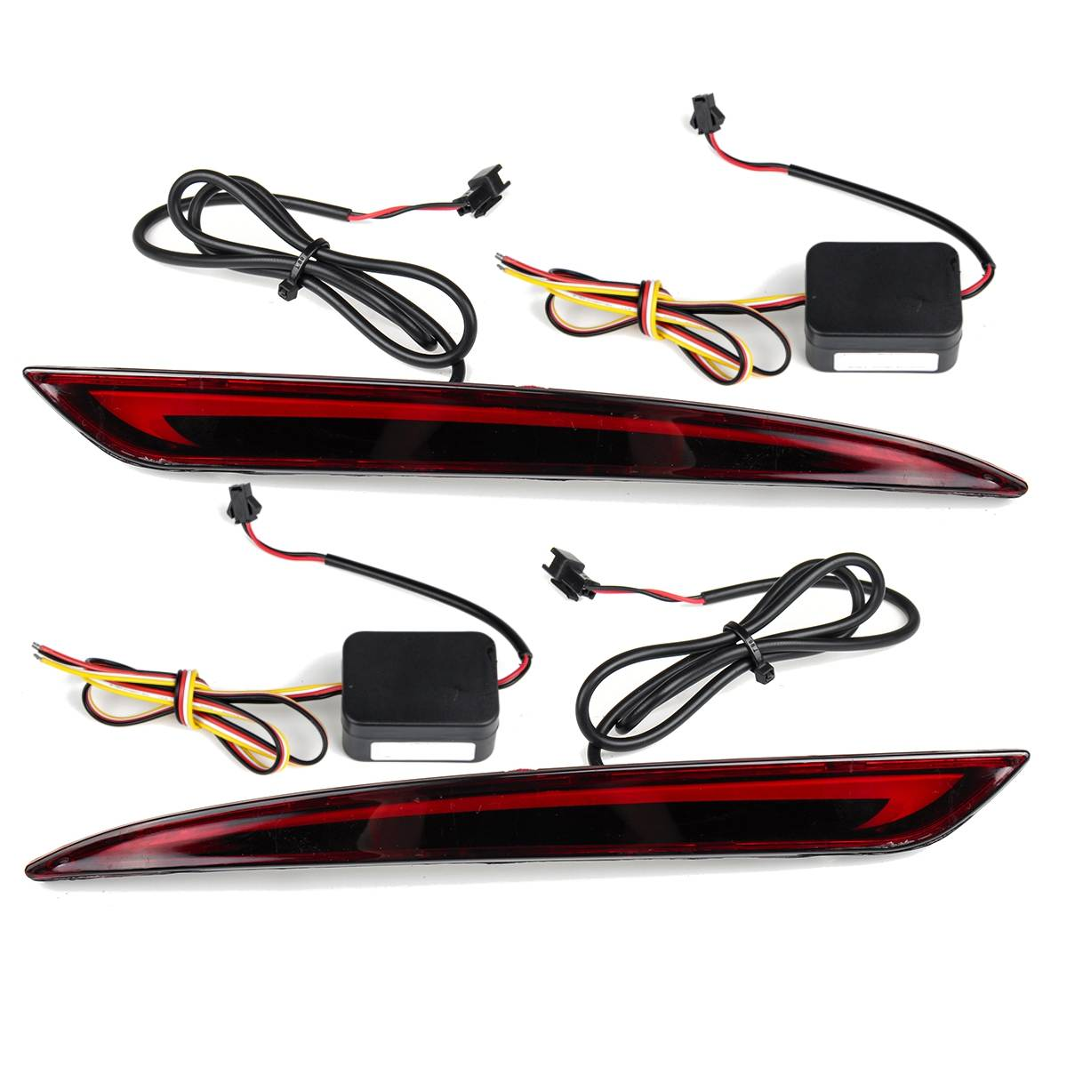 Hot 1 Pair 3 Function LED Rear Bumper Reflector Light For Ford Mondeo Fusion 2013 2014 2015 2016 2017 2018 Car DRL Brake Turn si