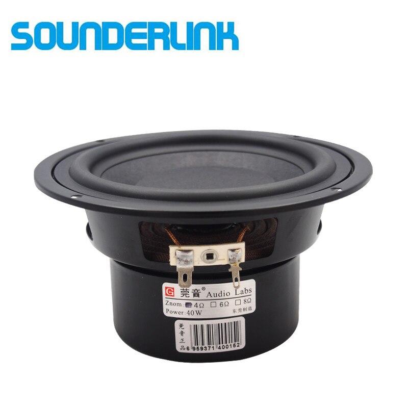 1 шт. Аудио Labs Top end 5 дюймов льняной Конус 60 Вт, басовый драйвер, низкочастотный динамик, сабвуфер