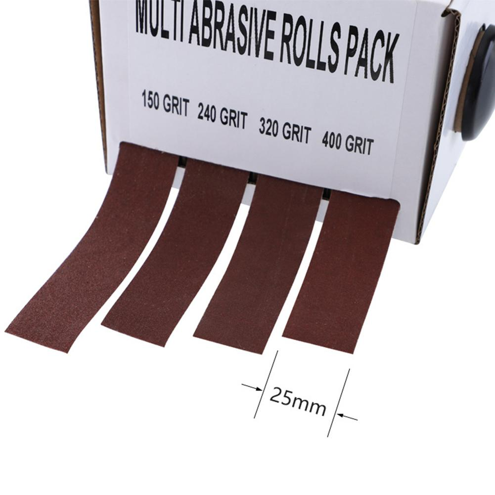 Polishing Nylon Glass Furniture Repair Metal Workers Abrasive Rolls Pumped Boxed Grinding Emery Cloth Woodturners Assorted Soft