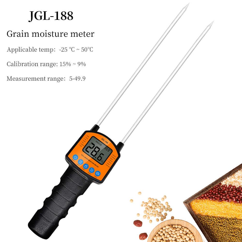 Измеритель влажности зерна с цифровым дисплеем, детектор влажности с двойной иглой для 14 видов сельскохозяйственных культур