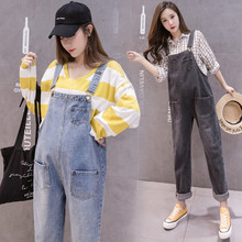 Denim Maternity Pant Overalls Jumpsuits Jeans for Pregnant Women Suspender Uniforms Trousers Pants Pregnancy Clothing Plus Size [wheat turtle]brand maternity jeans pregnancy clothes denim overalls skinny pants trousers clothing for pregnant women plus size