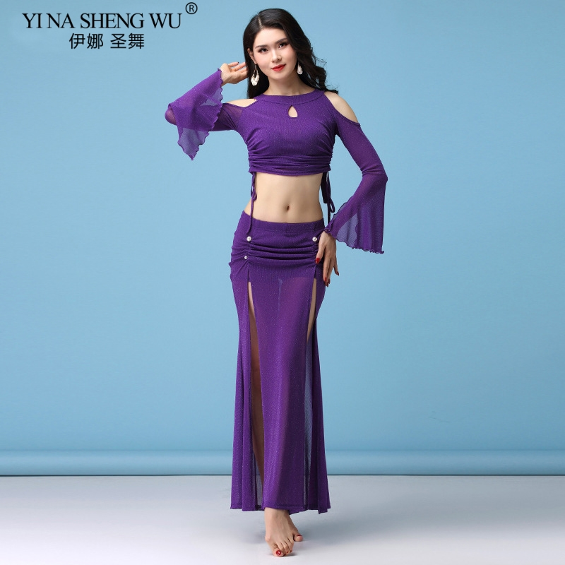 New Belly Dance Clothes Suit Autumn Winter Dance Skirt Long Split Sleeve Top Skirt LadyGirl Sexy Costume ,M,L,XL,Free Shipping