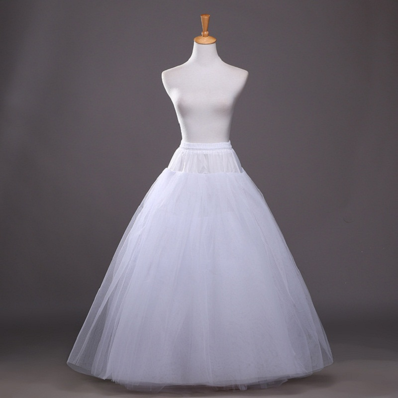 A Line 4-Layers Petticaosts For Wedding Dress White Wedding Skirt Accessoires Slip CQ002