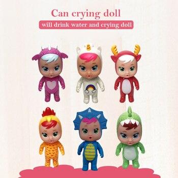 Модная Кукла для младенцев с плачом, волшебные куклы со слезами, полностью виниловые куклы с плачом, Мультяшные животные, кукла с питьевой водой, украшения, игрушки, детские подарки, новинка