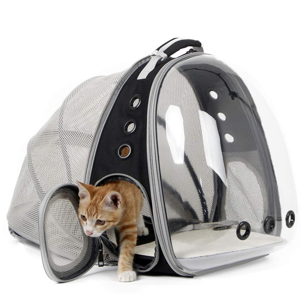 Expansível gato portador mochila portátil pet filhote de cachorro viajar ao ar livre mochila transportador transporte gatos saco pet supplie|Carrinhos|   -