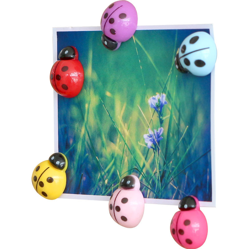 6pcs Ladybug Shape Plastic Push Pins Thumbtack Cute Cartoon Thumbtacks Message Board Decoration Creative Cork Nail  DIY Tool