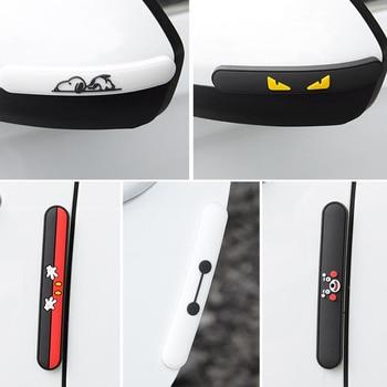 4pcs Car Door Scratch Protector Anti-collision Stickers cartoon Bump PVC sticker Auto accessories for car