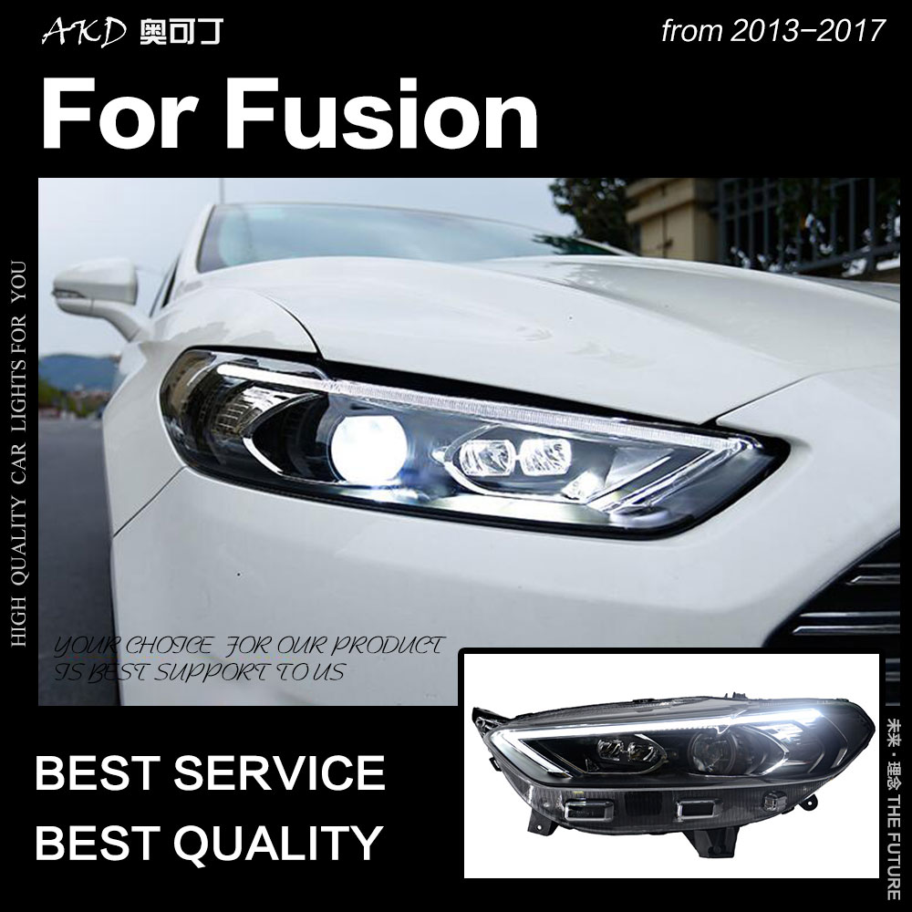 Car Styling Head Lamp for Ford Fusion Headlight 2013-2016 Mondeo LED Headlight New DRL Bi Xenon Projector Lens auto accessorie