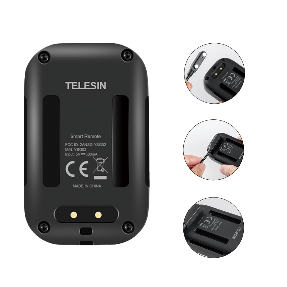 TELESIN télécommande Wifi étanche écran OLED auto-lumineux avec ensemble et touche de raccourci pour GoPro Hero 8 7 6 5 3 3 + 4 Session - 5