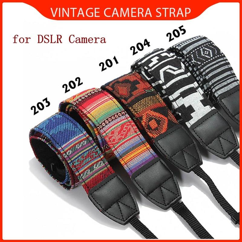 LEORY Wind Camera Neck Shoulder Camera Strap Belt Soft SLR DSLR Durable Cotton For Nikon For Canon For Sony Vintage Wholesale